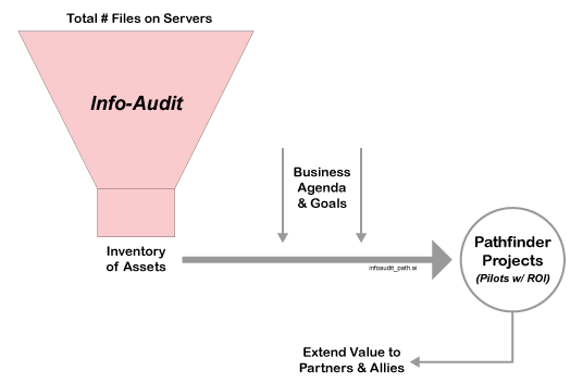 information audit and inventory analysis of digital assets to improve information management